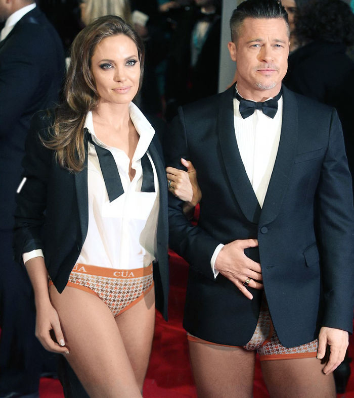 Angelina Jolie And Brad Pit.